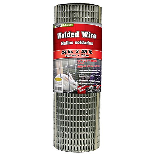 Welded wire mesh fencing amazon yardgard 309301a 24 inch by 25 foot 16 gauge 12 inch by 1 inch mesh galvanized welded wire keyboard keysfo Gallery