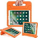 Surom Case for New iPad 9.7 Inch 2018/2017 - ShockProof Case Light Weight Kids Case Cover with Handle Stand Case for iPad 9.7 Inch 2018 & 2017 New Model/iPad Air/iPad Air 2 Tablet, Orange