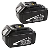 Bingogous 18V 5.0Ah LXT Lithium-Ion Replacement Battery for Makita BL1830 BL1840 BL1850 LXT-400 194204-5 Cordless Power Tools 2 Pack