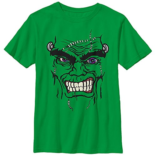 Lost Gods Halloween Frankenstein Monster Face Boys Graphic T (Halloween Frankenstein Face Paint)