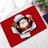 Startview 3D Christmas Floor Mats, Christmas Dining Room Carpet Shaggy Soft Mat Rug Rectangle Floor (A)