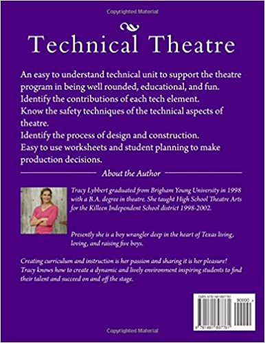 Technical Theatre: Student Workbook (Theatre Arts 1): Tracy Brooke ...