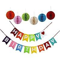 Threemart Happy Birthday Decoration Banner