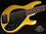 Ernie Ball Music Man StingRay5 HH Rosewood Fretboard Matching Headstock 5-String Electric Bass Guitar Firemist Gold