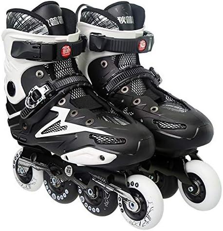 WTYD アウトドアスポーツ用品 Dile Bear F35アダルトシングルロー四輪ローラースケートスケートシューズ、サイズ:36(ブラック) アウトドアライフのために 黒