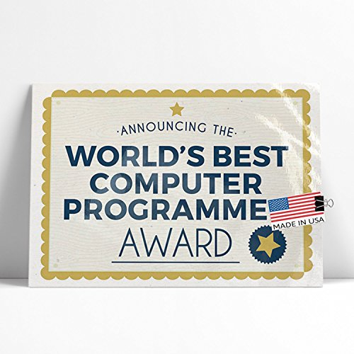 (NEONBLOND Large Poster Worlds Best Computer Programmer Certificate Award Printed in Atlanta by)