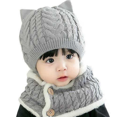 Mitlfuny Sombreros de bebé Unisex Giro Gorro de Punto Invierno ...