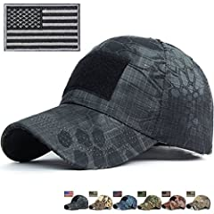 REDSHARKS Snake Camouflage Baseball Cap Hunting Shooting Tactical Military Army Camo Hat       This classic stylish baseball hat fit unisex adult casual use everyday, 6 embroidered eyelets on the top, adjustable velcro back       Bill ...