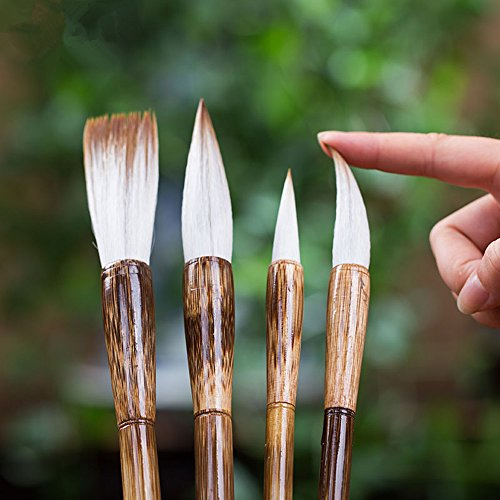 High-grade-Shanlian-Hubi-Fine-Chinese-Calligraphy-Brush-Set-Wolf-Goat-Hair-Doubled-Both-Brush