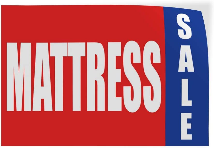 Set of 2 72inx48in Decal Sticker Multiple Sizes Mattress Sale Promotion Business Business Mattress Sale Outdoor Store Sign Red