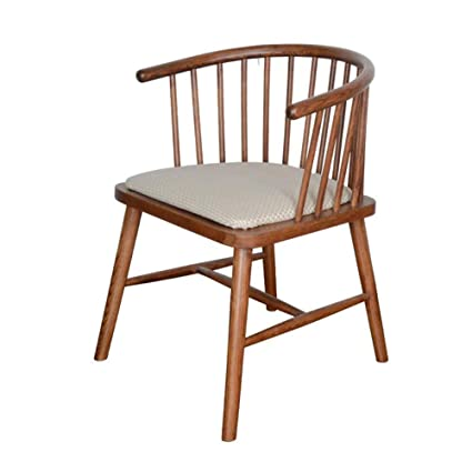 Charmant Amazon.com : CJC Dining Side Chairs, Retro Style, Oak Solid Wood Frame,  Llinen/PU Fabric Cushion, Wooden Home (Color : T8) : Garden U0026 Outdoor