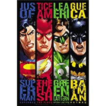 "JUSTICE LEAGUE Banners, Original DC Comics Superhero Artwork, High Quality, 3.3"" x 5"" - Sticker DECAL"
