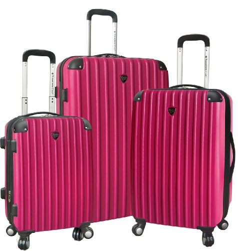 travelers-club-luggage-3-piece-hardside-luggage-sets-fuchsia-one-size