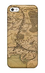 Fashionable VvwMnBu50VfqCf Iphone 5/5s Case Cover For Map Of Middle Earth Protective Case
