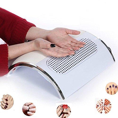 Aspirador De Uñas 3 Ventiladores Succión De Polvo Aspiración De Secado De Alta Potencia Con 2 Bolsas Colectoras De Polvo