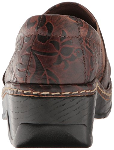 Flower Klogs Brown Tooled Klogs Brown q1fZnttWx