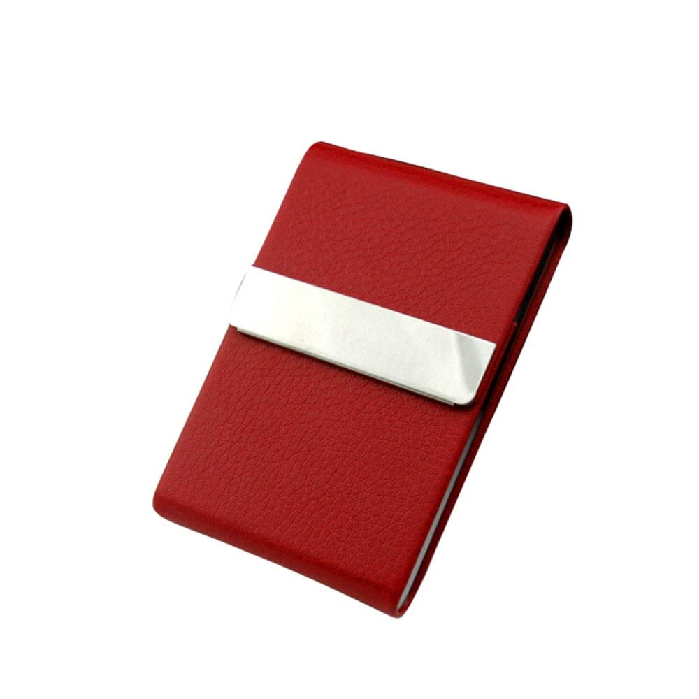 QINRUIKUANGSHAN Women's Cigarette Case, 7-Pack Cigarette Case, Simple Personality Flip Cover Thick and Thin Smoke Dual-use Portable Leather Cigarette Box Cigarette, The LAT