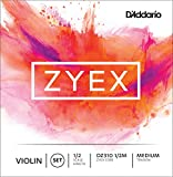 D\'Addario Zyex Violin String Set, 1/2 Scale, Medium Tension
