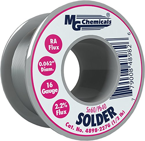 MG Chemicals 60/40 Rosin Core Leaded Solder, 0.062