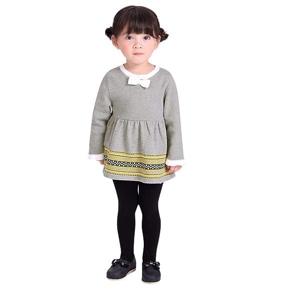 ASHOP Vestidos niña/ Vestido de suéter de puntoTops de Vestir de ...