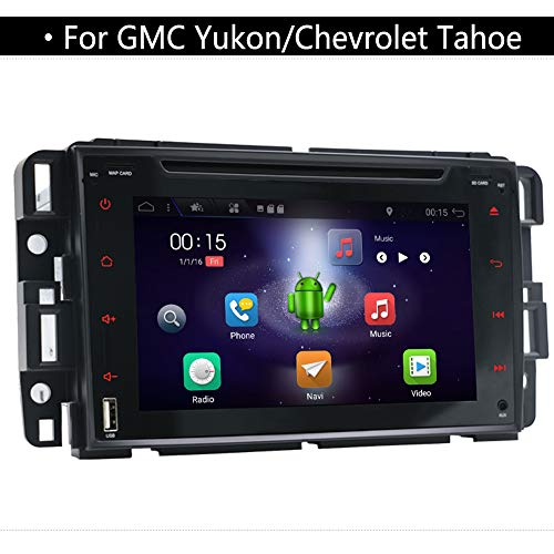 Double Din Car Stereo for GMC Yukon/Chevrolet Tahoe,YUNTX Head Unit in Dash Car GPS Navigation with 7