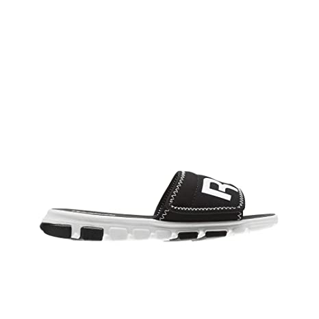 12e96448b35d7 Amazon.com  Reebok Classic Slide (Black White) Grade School Kids Shoes  CN1313  Sports   Outdoors