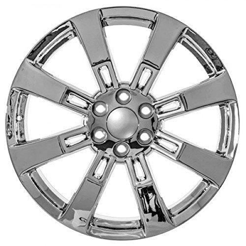 Amazon Com 22 Inch Chrome Chevy Ck375 Replica Wheels Fits Silverado