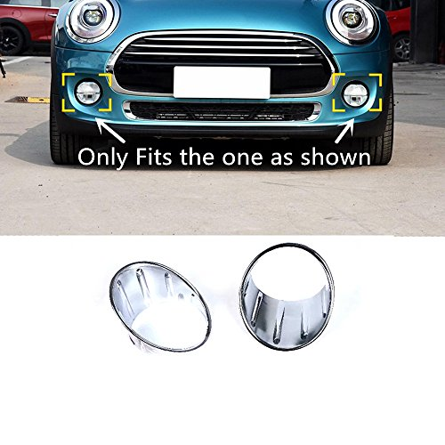 HIGH FLYING ABS Chrome Front Fog Light Lamp Decor Trim For BMW MINI Cooper Hardtop 3dr (F56)/Hatch Cooper 5dr (F55) Hatchback 2014-2018