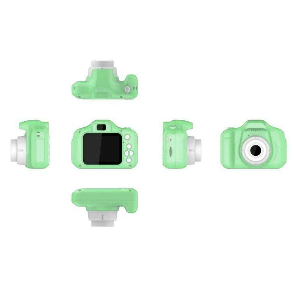 RONSHIN Kids Camera, 2 Inch HD Screen Chargable Digital Mini Camera Kids Cartoon Cute Camera Toys Outdoor Photography Props for Child Green by RONSHIN