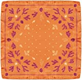 R. Culturi Made in Italy 100% Silk Pocket Square Original Artwork (Orange/Plum) Gift Box