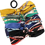 4 Pack Printed Retro Style Cross Knot Hair Band Elastic Headwrap Twisted Cute Hair Accessories