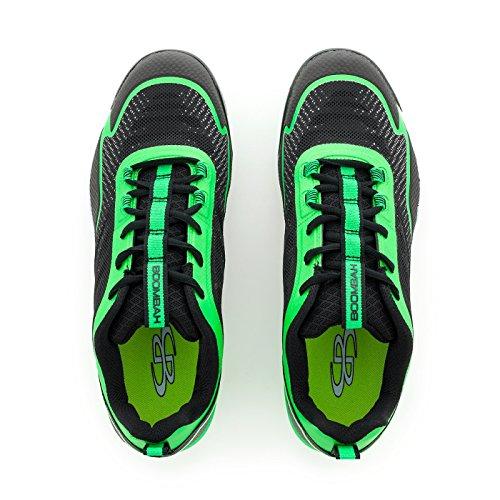 Boombah Hombres Berzerk Molded Cleats - 11 Opciones De Color - Varios Tamaños Negro / Verde Lima
