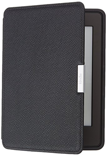 Amazon Kindle Paperwhite Lederhülle, Onyx-Schwarz - geeignet für alle Kindle Paperwhite-Generationen