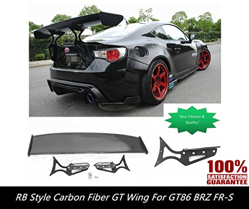 GT86 BRZ GT Style Carbon Fiber Wing Spoiler [with CNC Aluminum Brackets Get it Now!] GT86 GT ()