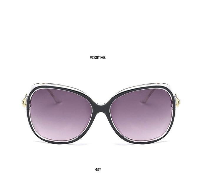 P-WEIAN Gafas de sol, moda salvaje, caja grande, calle de ...