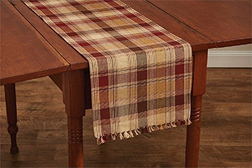 Park Designs Plaid Hearthside 13 Inches x 54 Inches Cotton Flat Woven Table Runner Kitchen Linens ()
