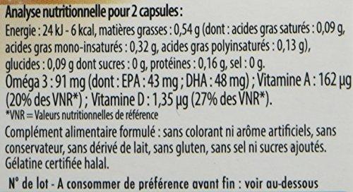 Vitavea- Huile de Foie de Morue – Oméga 3, Vitamine A Et D d'Origine Naturelle – Fabriquée en France – 60 Capsules