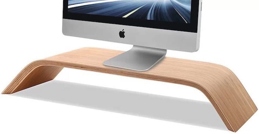 Samdi Wooden Monitor Stand Riser Stand Shelf Stand For All Imac And Other Computers Lcd Monitors See Eye To Eye With Your Monitors Amazon Co Uk Office Products