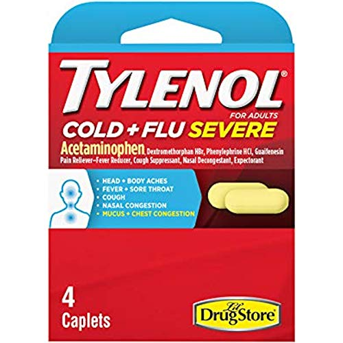 Tylenol Cold and Flu Severe Caplets, 4 Caplets Each (Value Pack of 9)