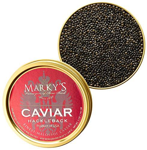 Salmon Caviar American Wild - Marky's Hackleback Caviar Black American Sturgeon - 5.5 oz