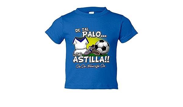 Camiseta niño de tal palo tal astilla Tenerife fútbol - Azul Royal, 3-4 años: Amazon.es: Bebé