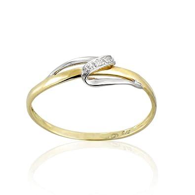 amazon économiser les plus récents Tous mes bijoux Women 9 k (375) Yellow Gold Diamond Rings ...