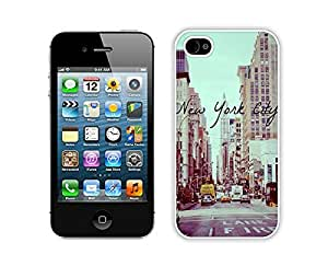 FAGUO Vintage New York City iPhone 4 4S Case White Cover New Arrived cell phone cases by lolosakes