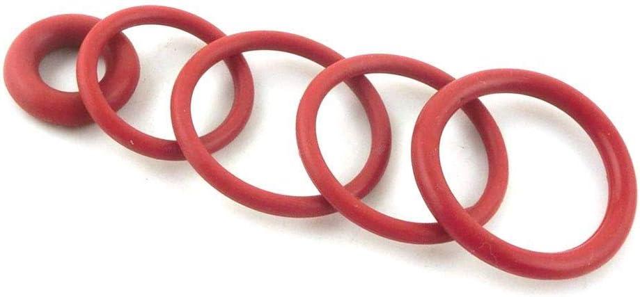 F-MINGNIAN-SPRING 20pcs Spessore 3mm Red O-Ring Guarnizioni 60//62 65//68//70//72//75//80//85//90//95 Millimetri OD di Calore del Silicone di Resistenza O Anelli guarnizioni Rondella Grommet