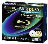 TDK 録画用ブルーレイディスク BD-R DL 50GB 1-4倍速対応 ホワイトワイドプリンタブル 10枚入り 5mmケース BRV50PWB10S