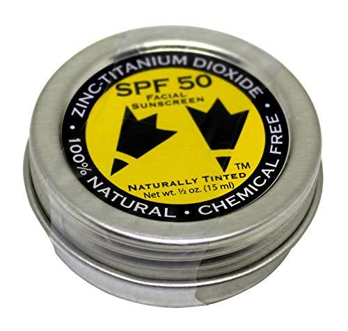 (Rubber Ducky - SPF 50 facial Sunscreen - Naturally Tinted - all-natural, chemical-free, non-nano zinc oxide - 0.5 ounce tin )