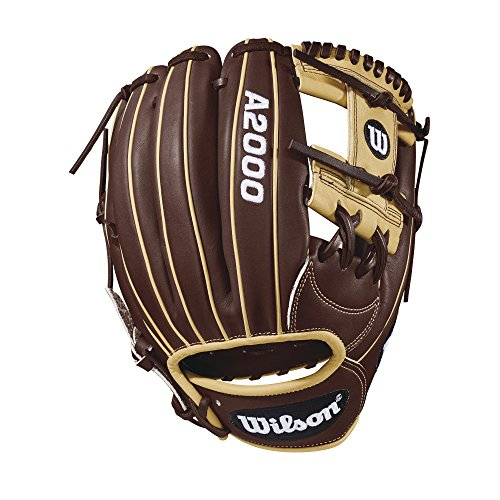 - Wilson 2018 A2000 1787 Infield Right Hand Gloves, Dark Brown/Blonde, 11.75