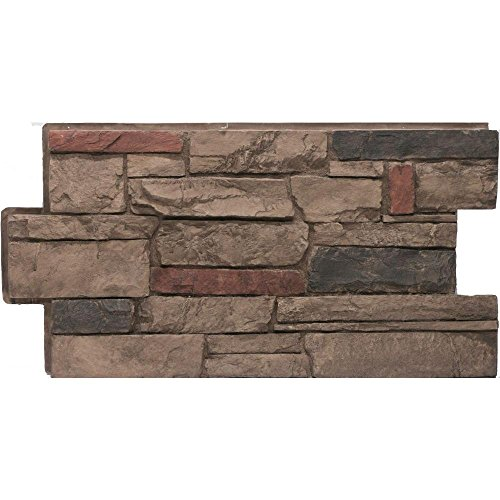 Urestone Ledgestone #25 Mocha 24 in x 48 in Stone Veneer Panel 4Pack