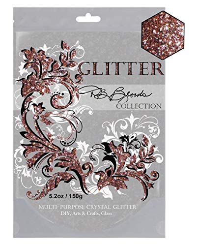 DB Brooks Collection LGBT Multi-Purpose Crystal Glitter Rose Gold Metallic 150gr/5.2oz. Costumes Party Décor Wedding Body Face Nails Shoes Backdrops Stages ()