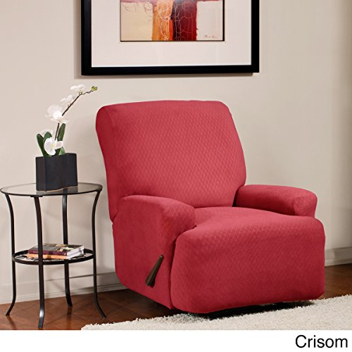 Caber SureFit Inc. Diamond Stretch Recliner Slipcover Red by Caber SureFit Inc.